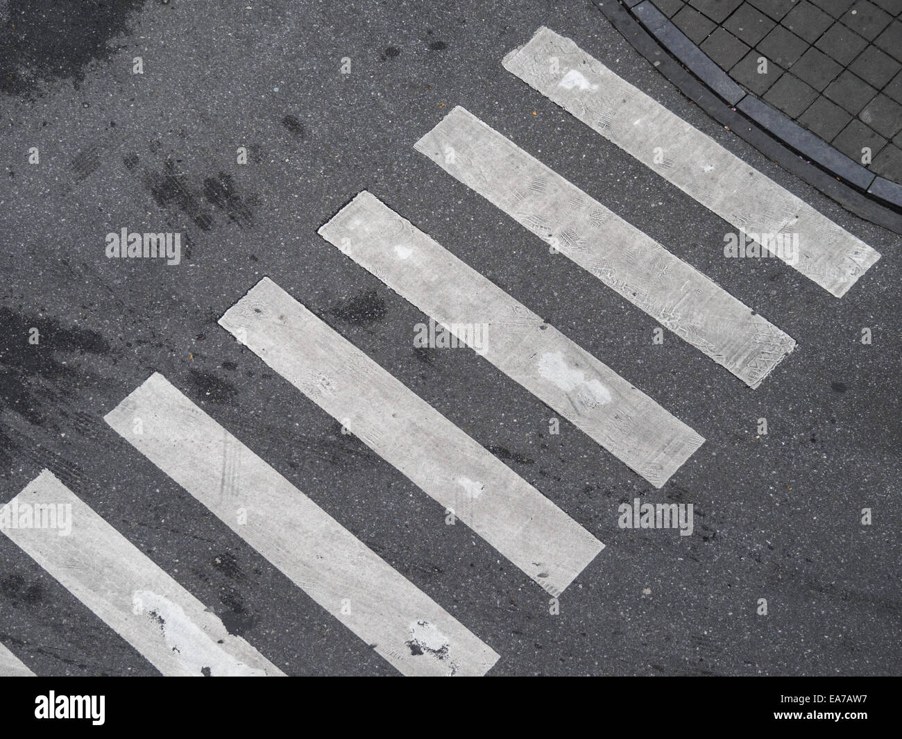 Aerial view of a crosswalk - Stock Image