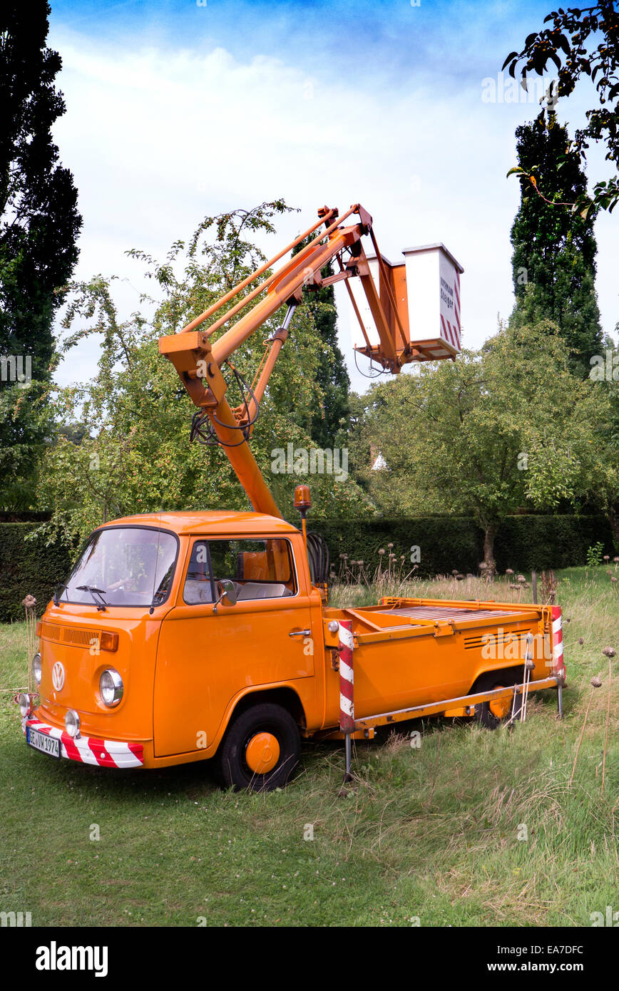 T2 VW Cherry picker 1974 - Stock Image