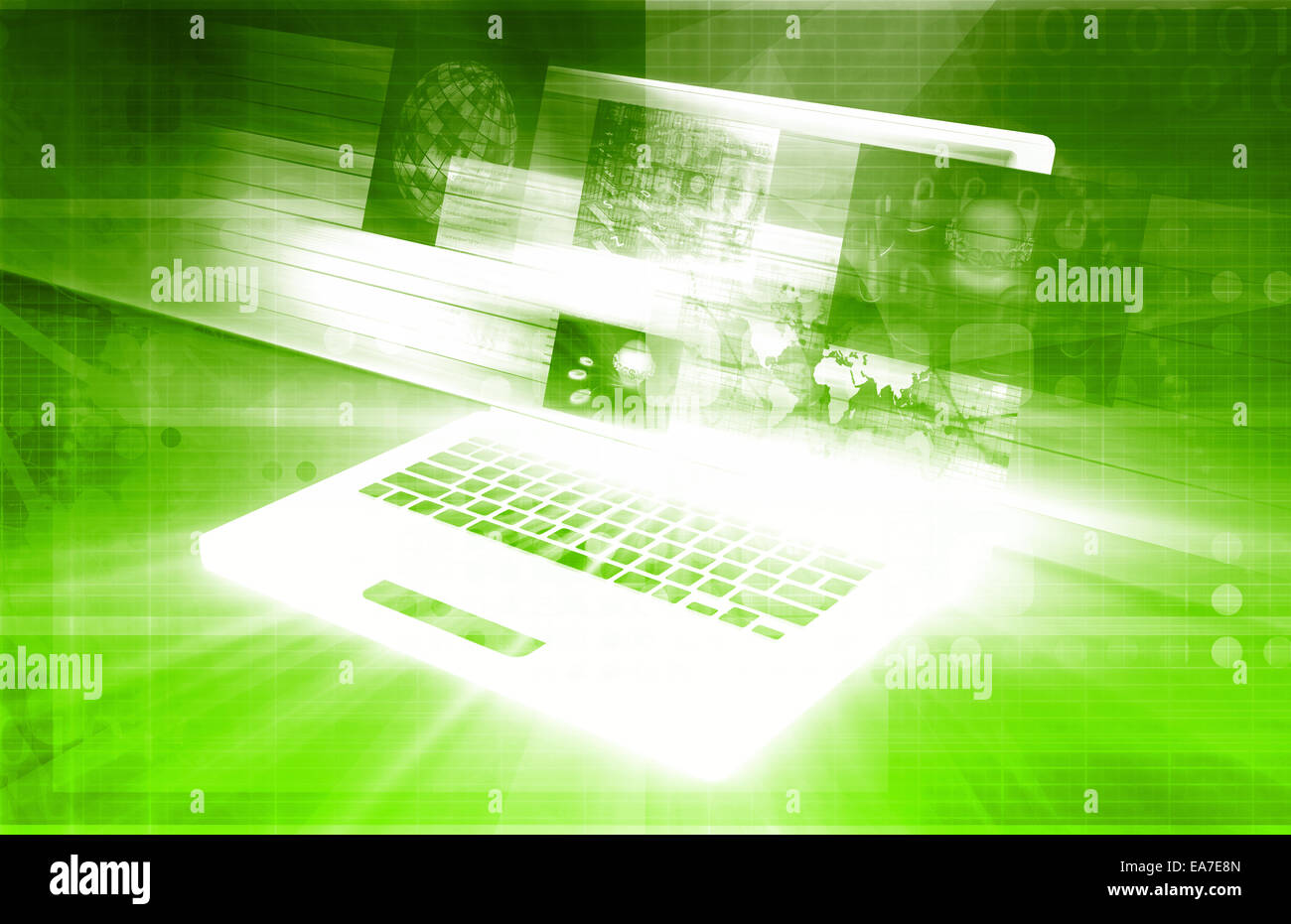 Antivirus and Firewall Security System as Concept Stock Photo