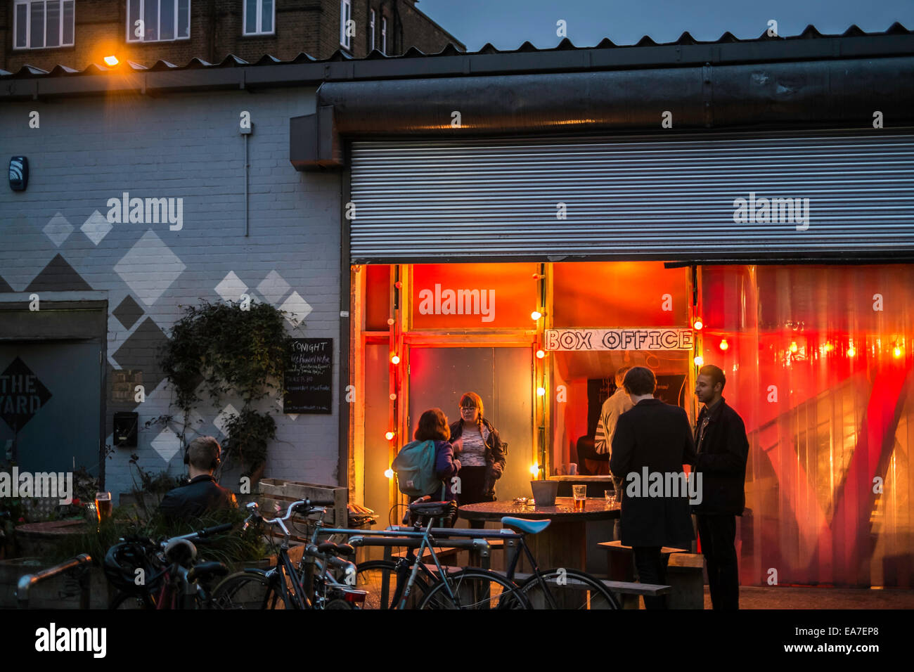The Yard Theatre, Hackney Wick, E9, London, United Kingdom - Stock Image