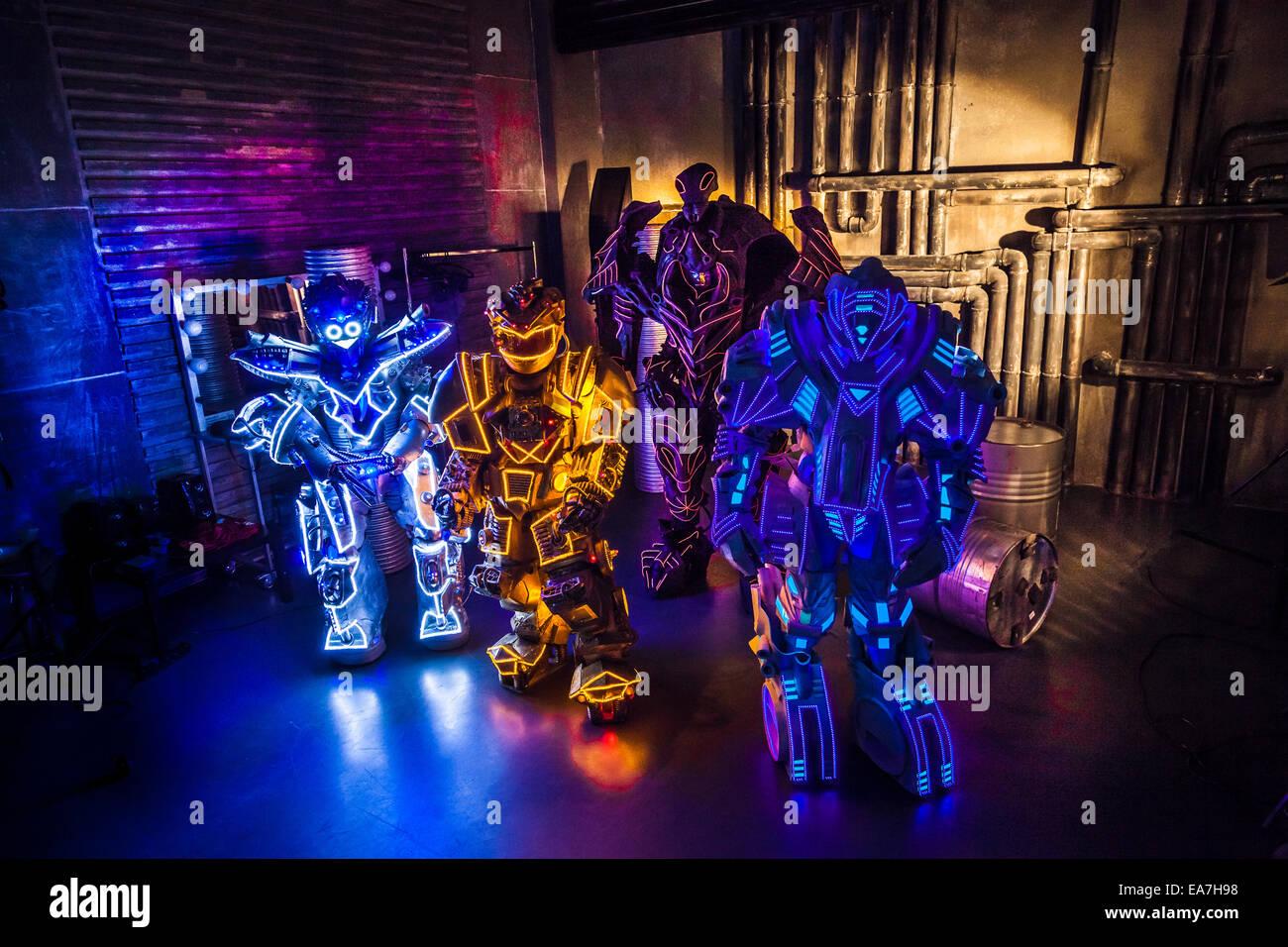 Futuristic robots - Stock Image