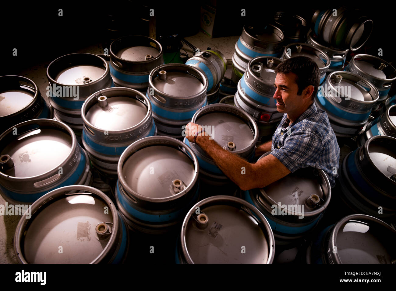 The Bedlam Brewery based at the Albourne Estate in West Sussex. - Stock Image