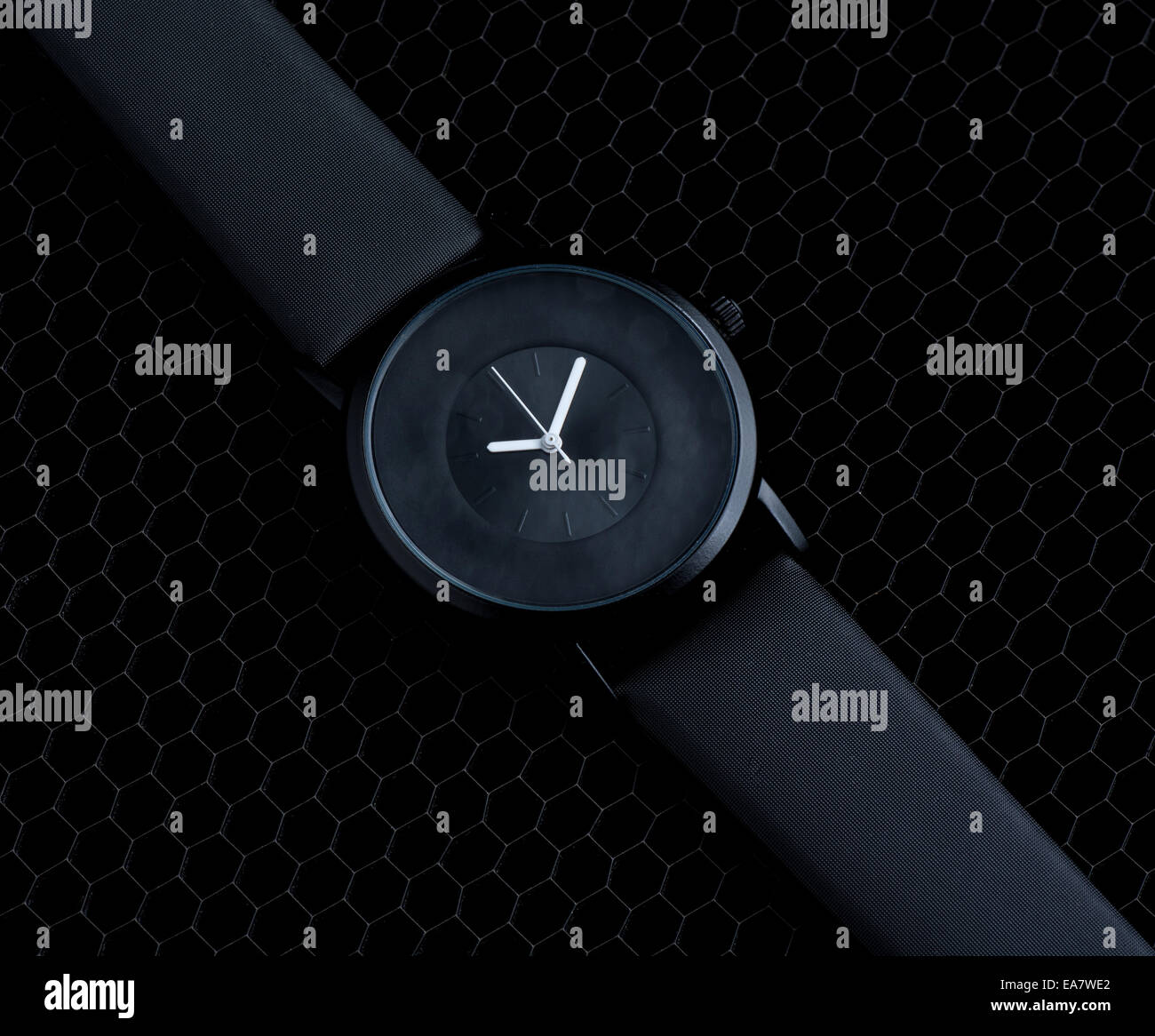 Luxury clock over black - Stock Image