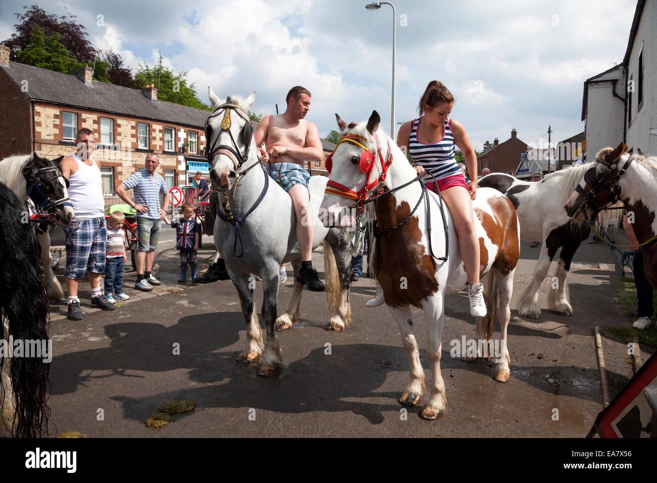 The Appleby Horse Fair, Appleby-In-Westmorland, Cumbria, England, U.K. - Stock Image