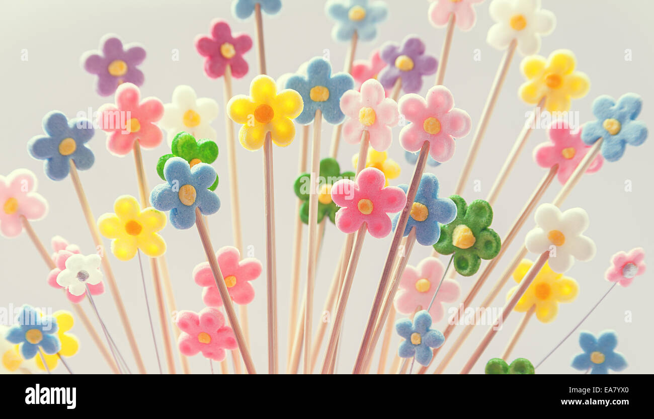 Pleasant Flowers Made Of Sugar As Decoration For Birthday Cake Stock Photo Funny Birthday Cards Online Alyptdamsfinfo