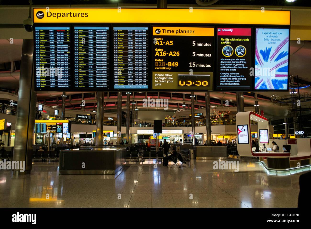 Terminal 2, Heathrow Airport, London, United Kingdom - Stock Image