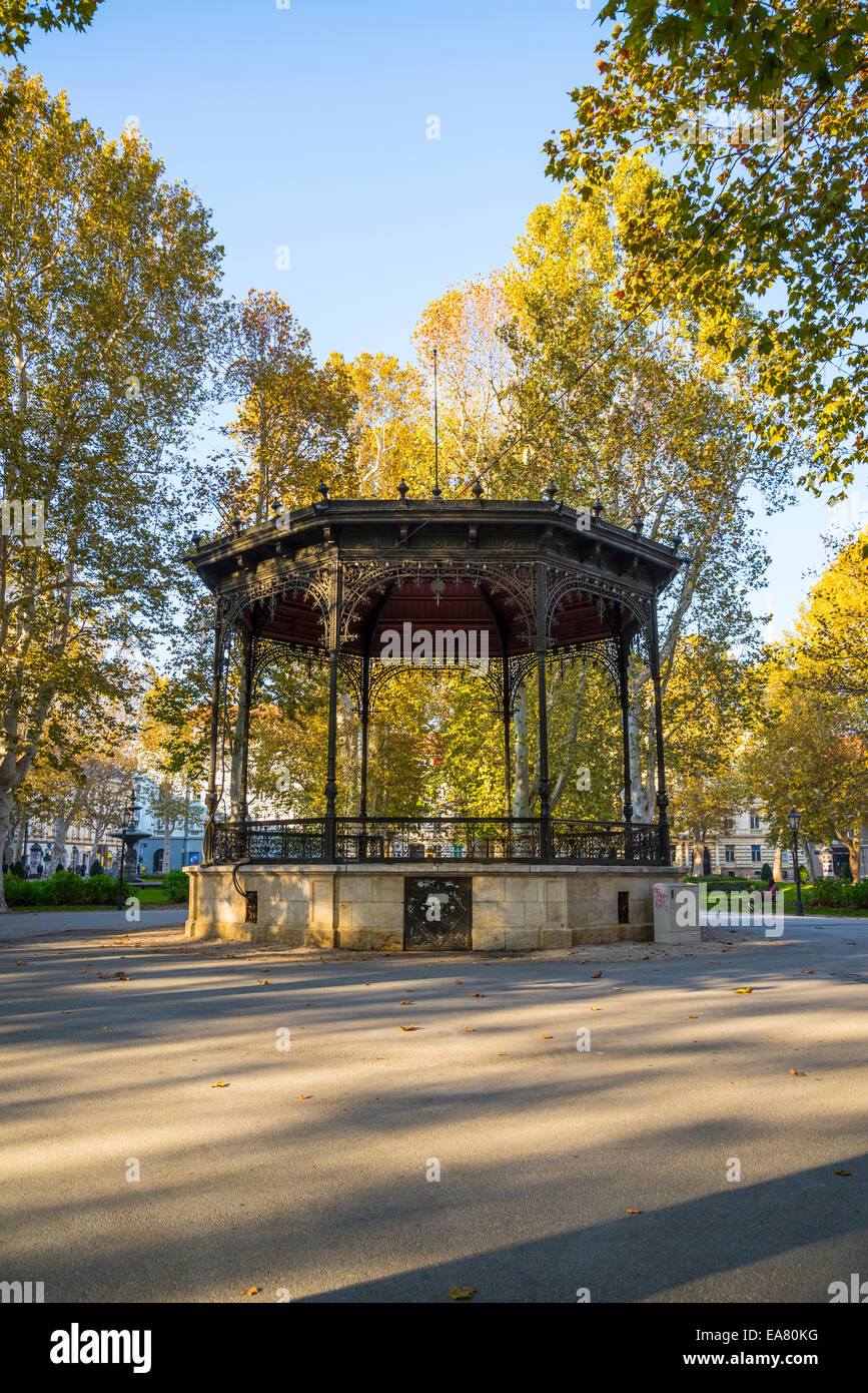 Bandstand, Zrinjevac or Josip Juraj Strossmayer park and square, Zagreb, Croatia Stock Photo