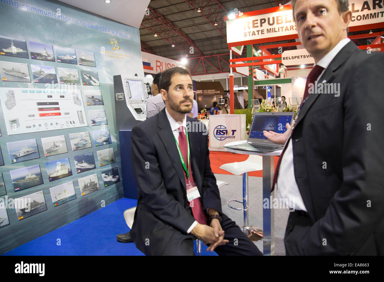 Expo Stand Bielorussia : A belarus milltary company stand indonesia defense show