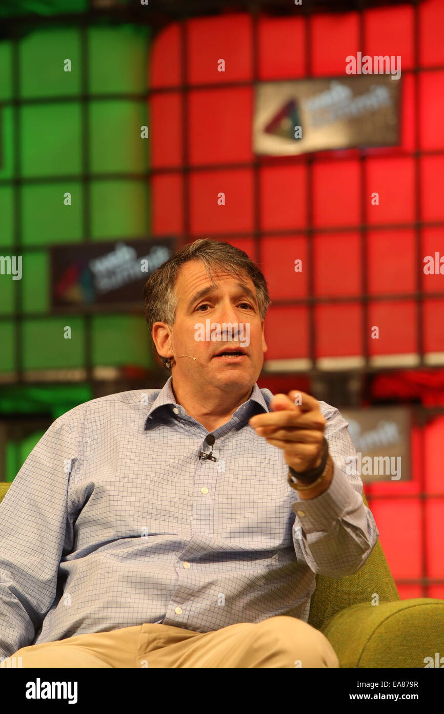 Jonathan Klein is Co-Founder and Chief Executive Officer of Getty Images, Inc., speaks at the Web Summit, Dublin. - Stock Image