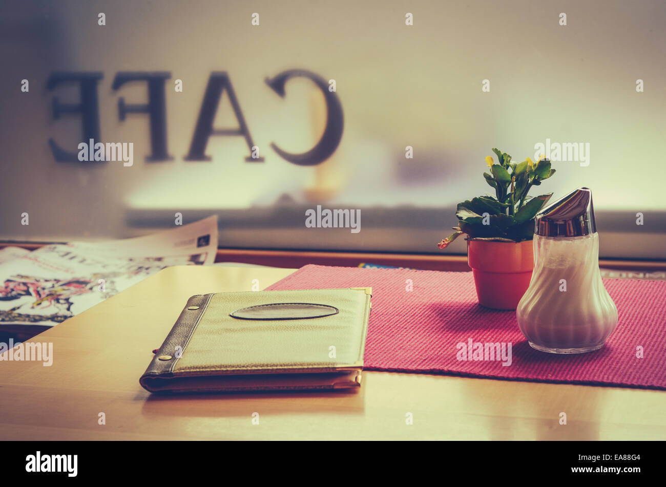Retro Cafe - Stock Image