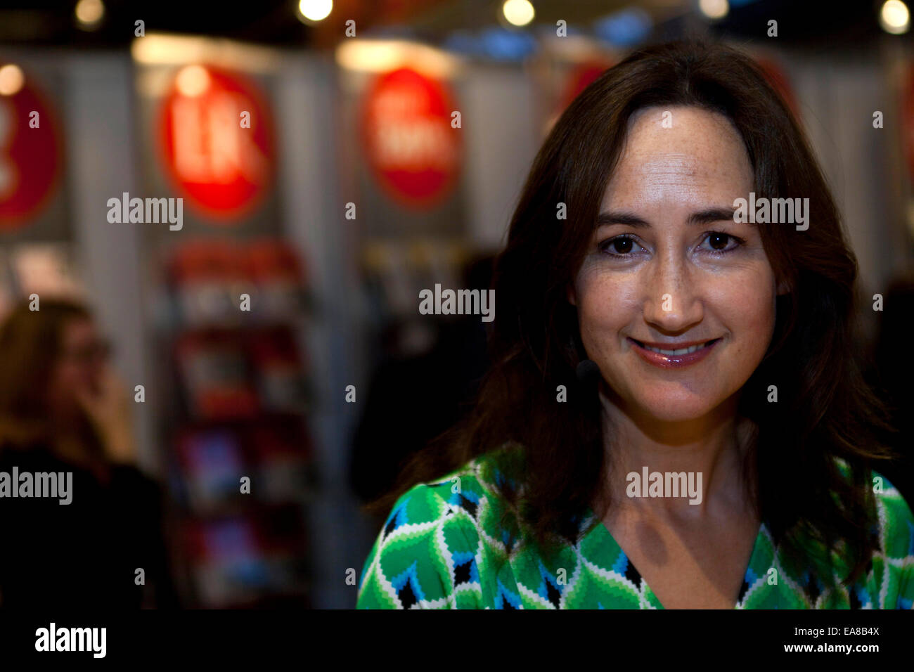 "Copenhagen, Denmark, November 8th, 2014: UK Novelist Sophie Kinsella, author of ""The Secret Dreamworld of a Shopaholic"", - Stock Image"