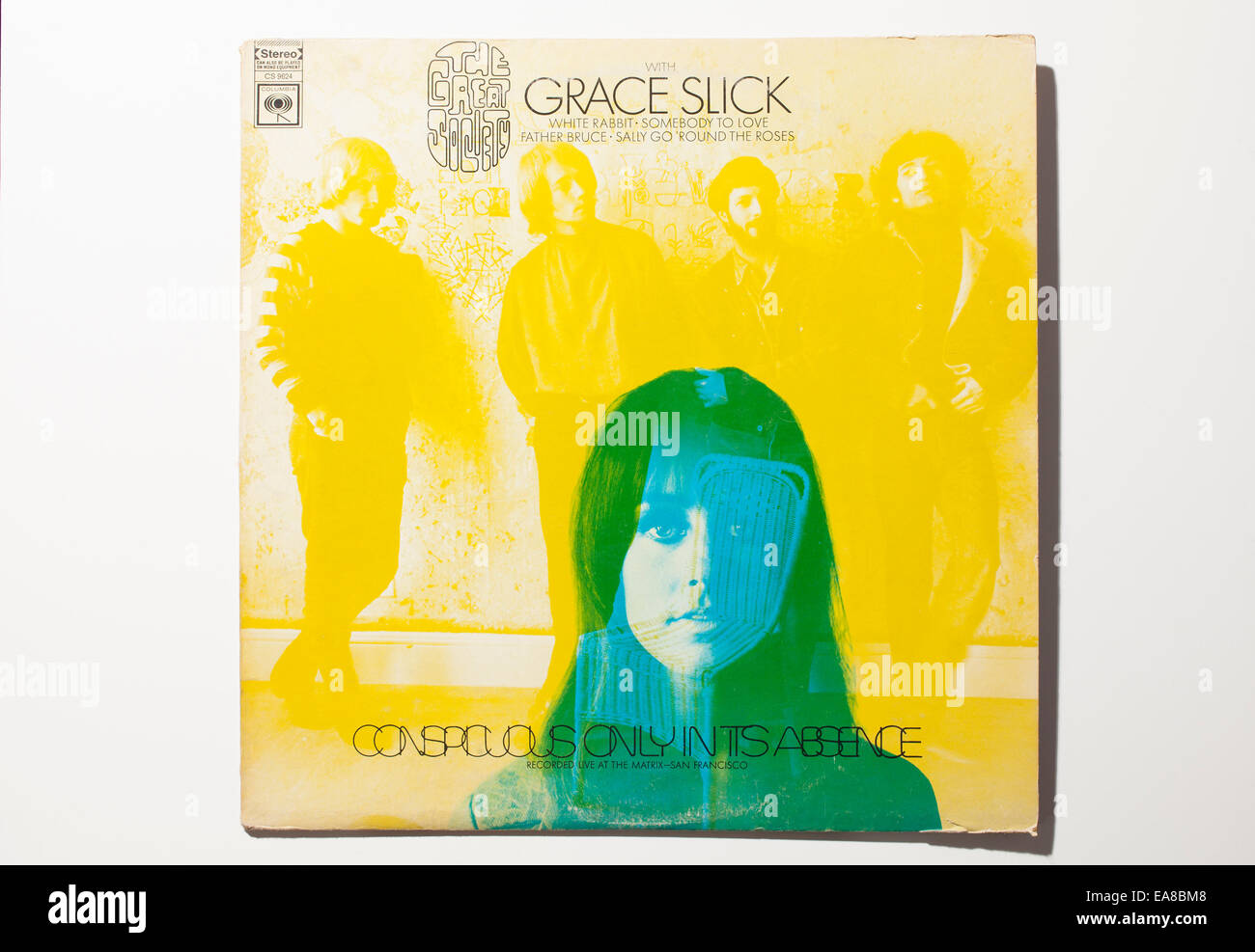 Conspicuous Only In Its Absence album with Grace Slick singing with Great Society. 1968 release. - Stock Image