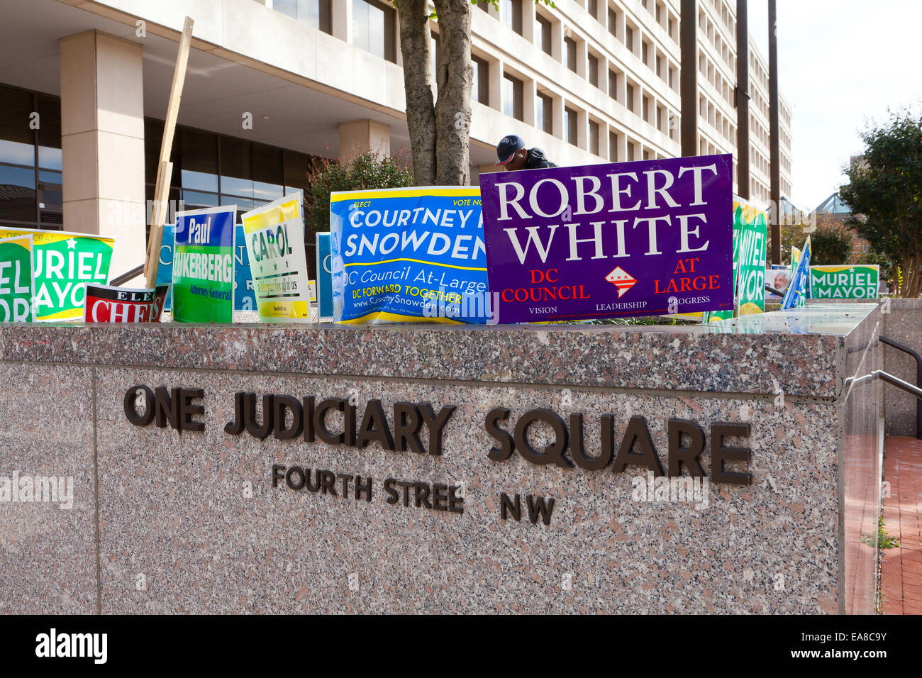 Mayoral race political advertisements - Washington, DC USA - Stock Image