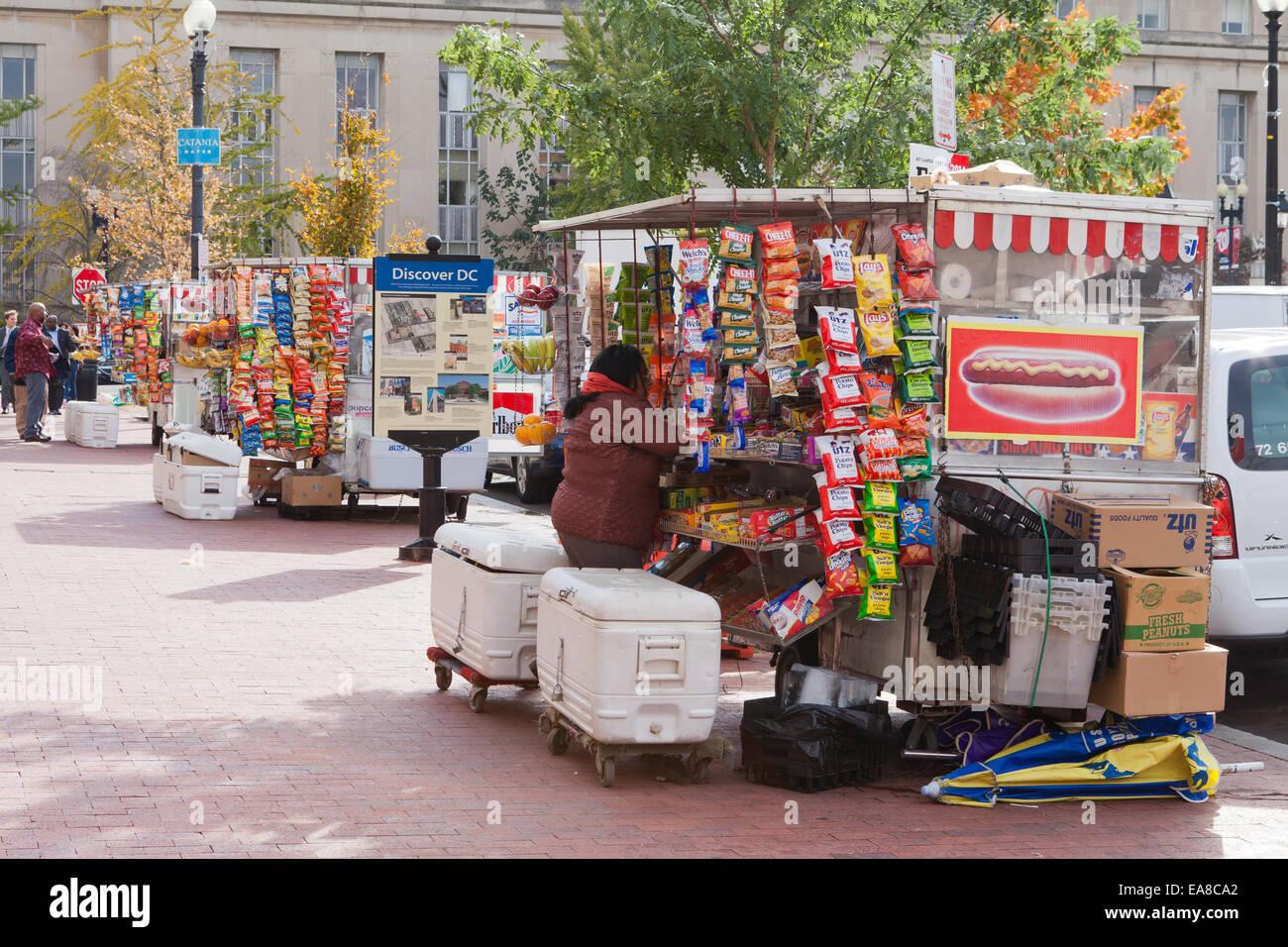 Hot dog vendor carts - Washington, DC USA - Stock Image