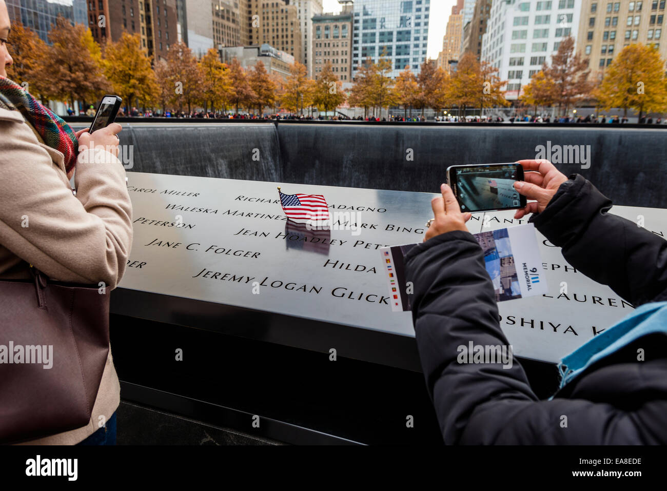 New York, NY 911 Memorial for victims of the World Trade Center ©Stacy Walsh Rosenstock/Alamy - Stock Image