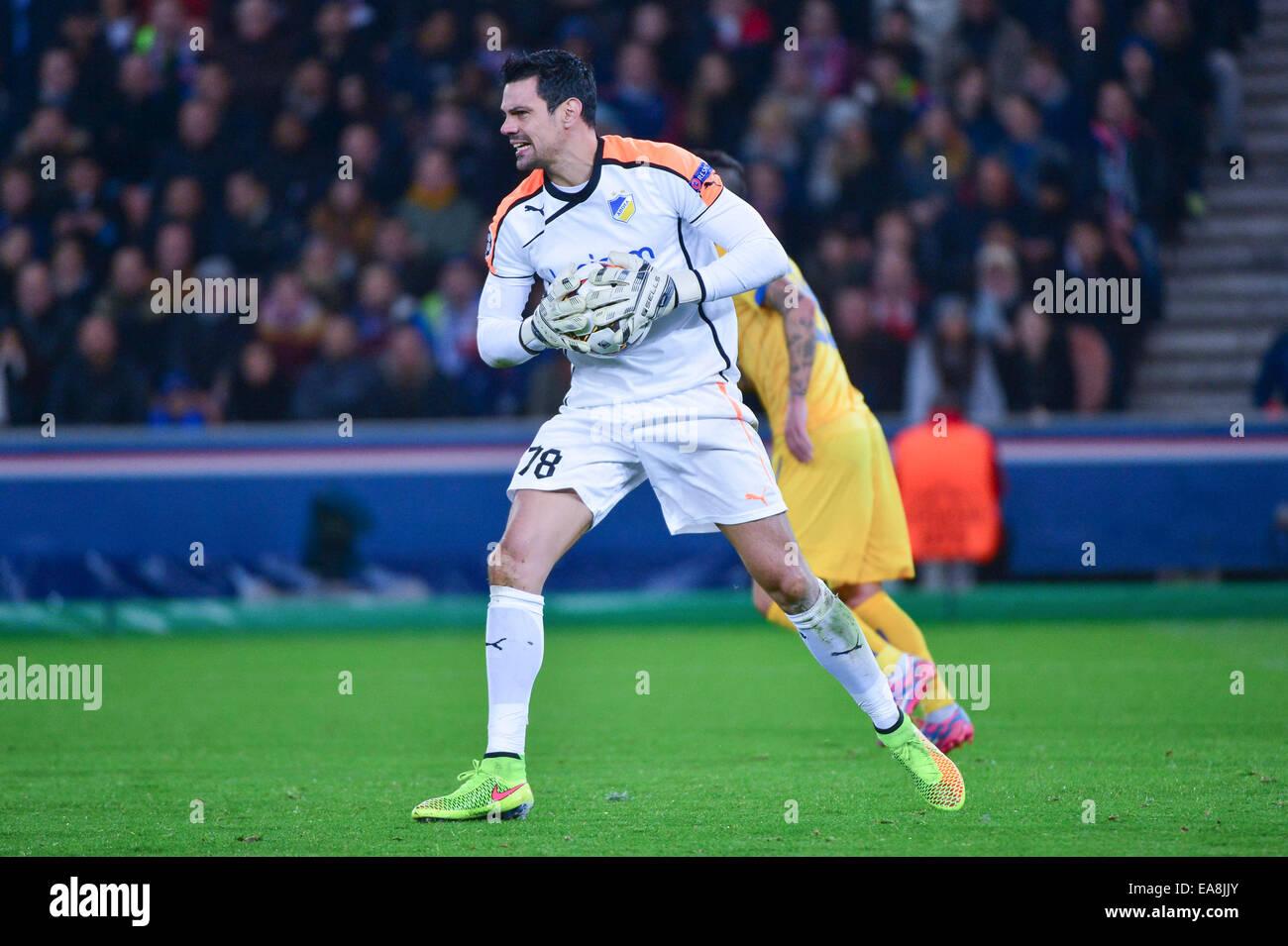 Urko PARDO - 05.11.2014 - Paris Saint Germain/Apoel Nicosie - Champions League Photo : Winterpress/Icon Sportw - Stock Image