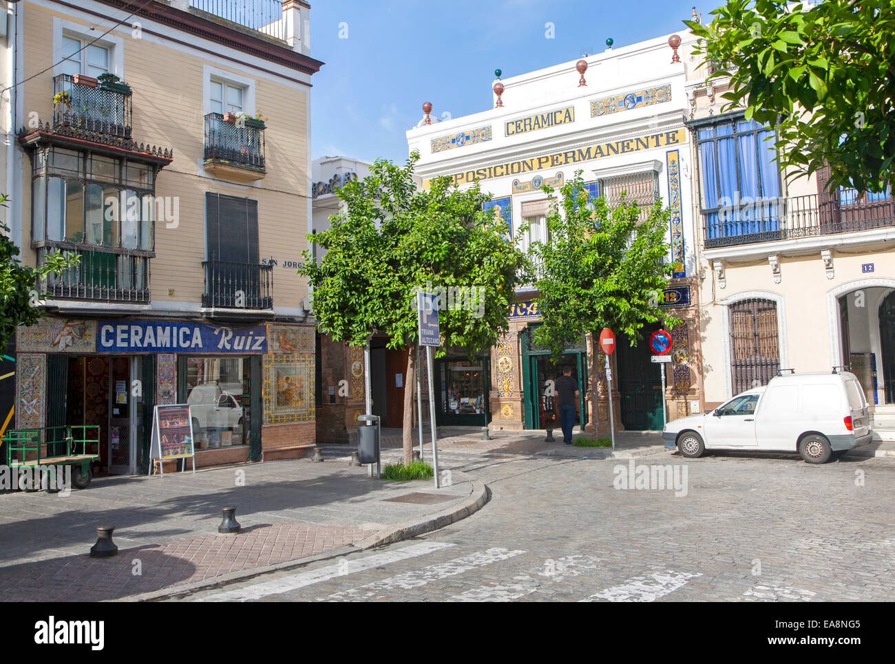 Ceramic Tile Shops In Triana Stock Photos & Ceramic Tile Shops In ...