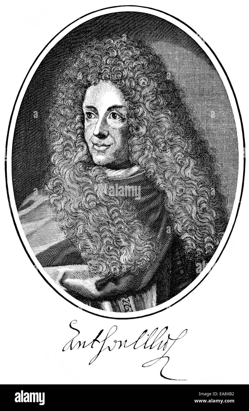 Anton Ulrich von Braunschweig-Wolfenbuettel, 1633 - 1714, Duke of Brunswick and Lueneburg, House of Welf, poet and - Stock Image