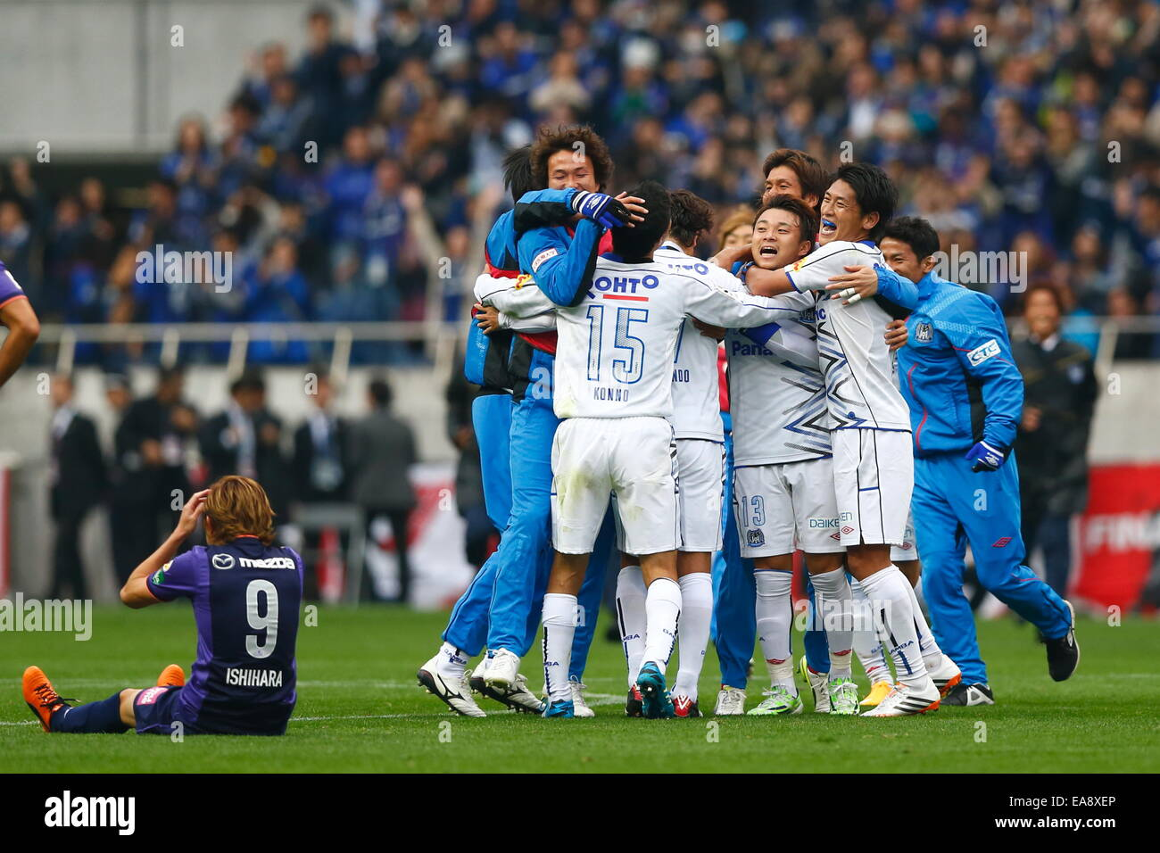 Saitama Japan 8th Nov 2014 Gamba Osaka Team Group Football Soccer Stock Photo Alamy