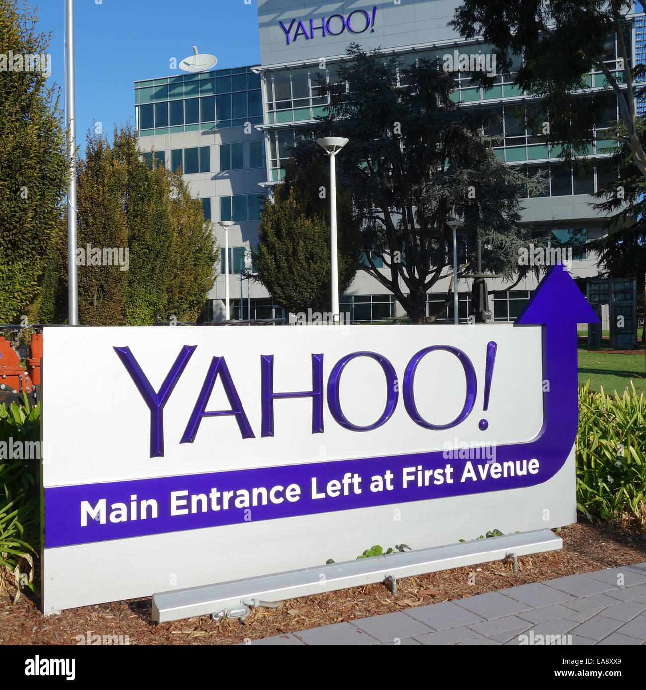 Yahoo Corporate Offices and Headquarters in Sunnyvale, California USA - Stock Image