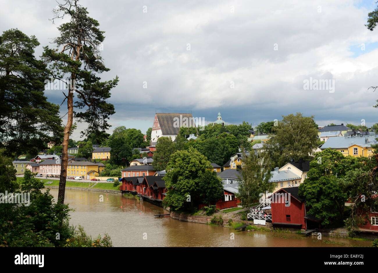 view of the ancient city Porvoo, Finland, Europe - Stock Image
