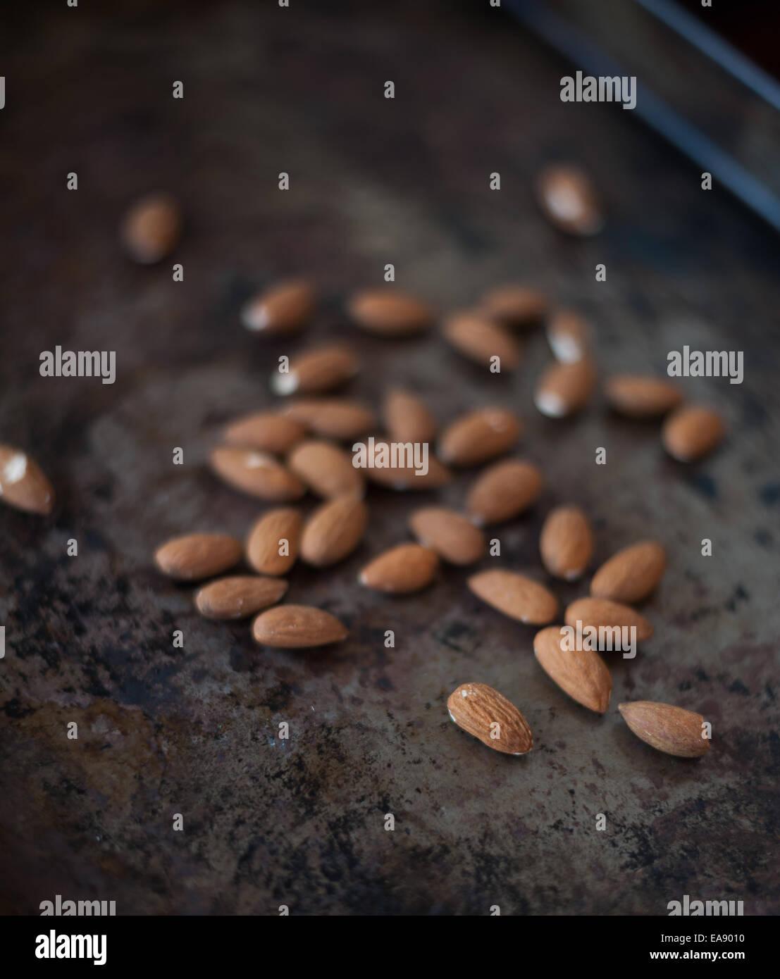Almonds - Stock Image