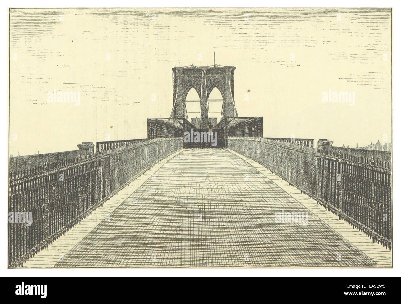 New York and Brooklyn Bridge (1883) - Plate 10 Stock Photo