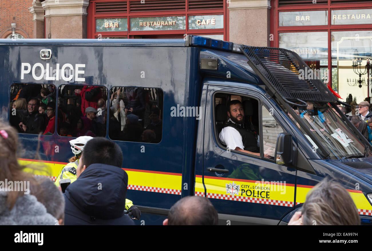 Taken during Lord Mayor Parade London 2014 - Stock Image