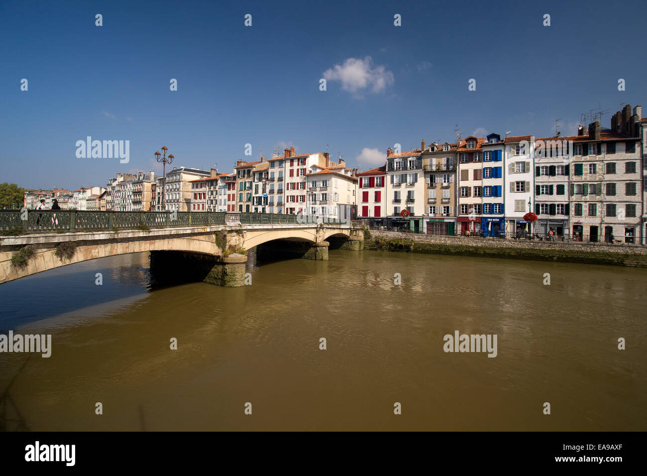 Bridge over the Adour river Bayonne France. - Stock Image