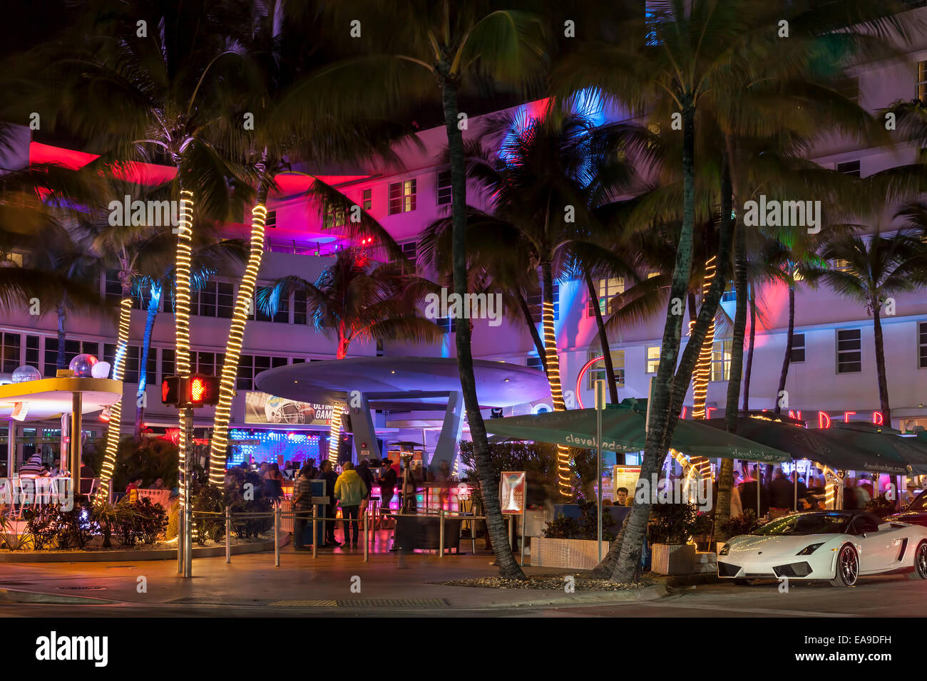 Colorful Lights And Fast Cars; Clevelander Hotel And
