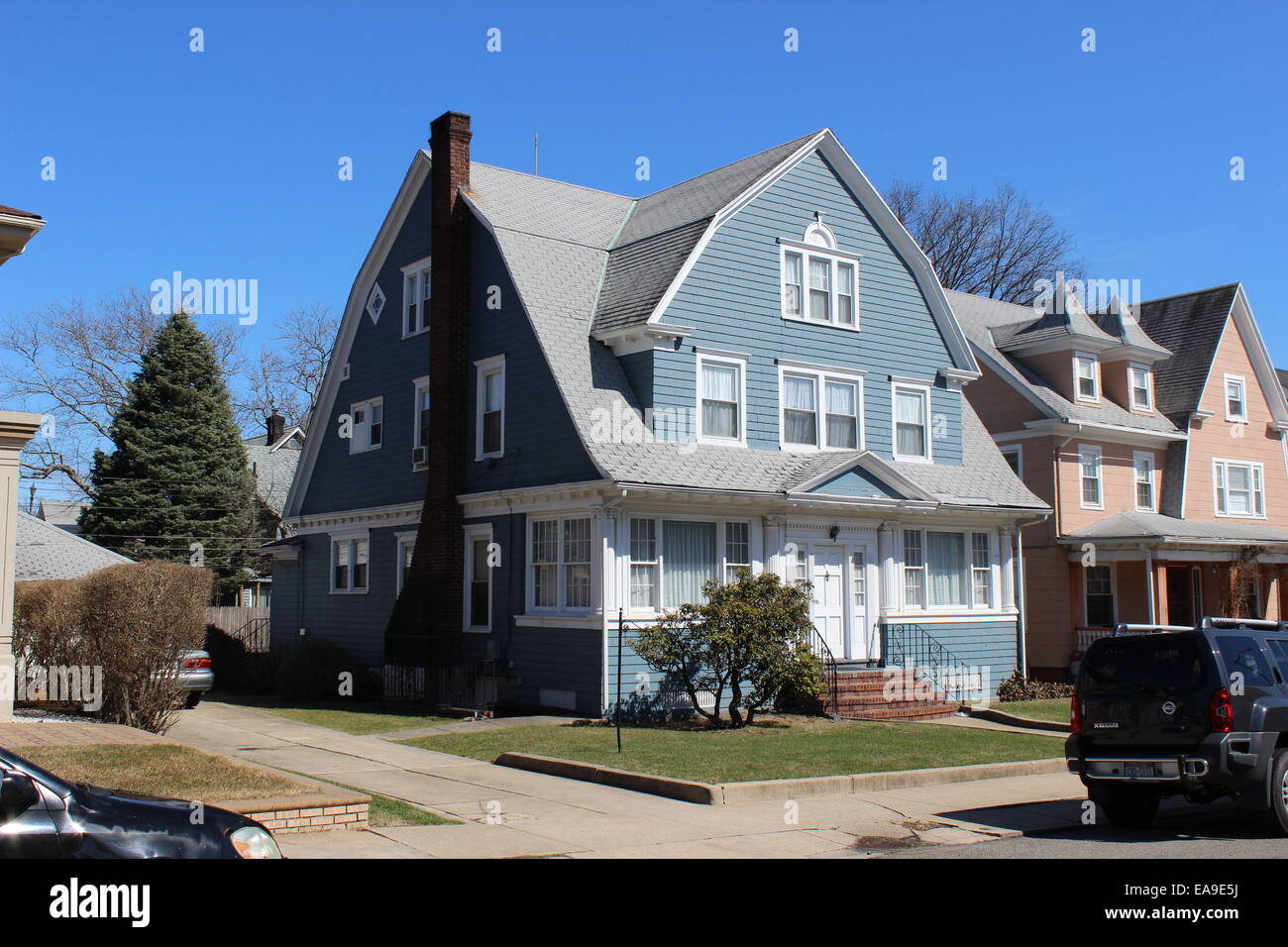 Dutch Colonial Revival Shingle Style House Richmond Hill Queens