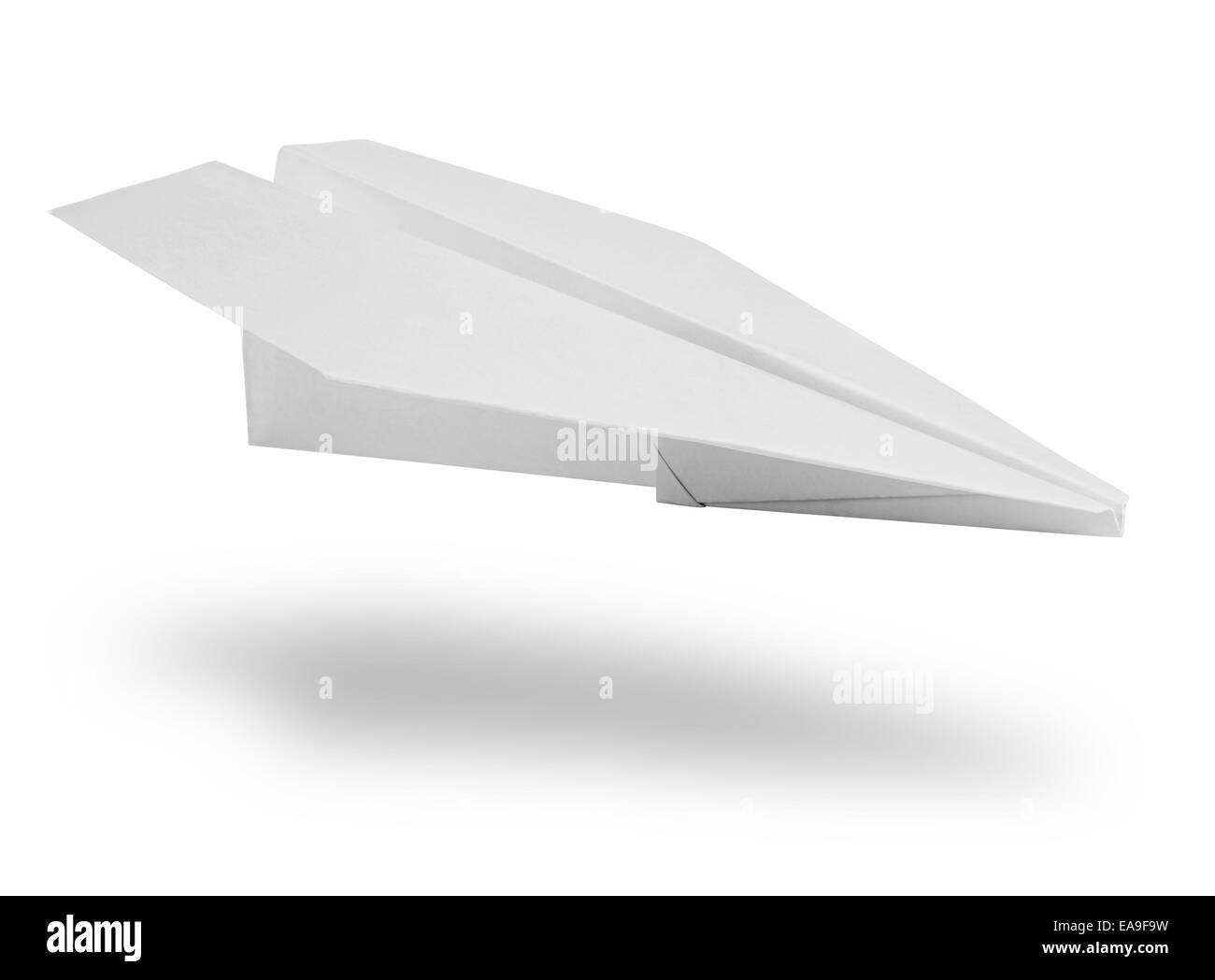 Isolated white paper airplane. Clipping Path - Stock Image