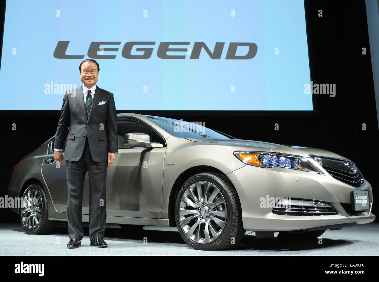 Takanobu Ito Japans Auato Maker Honda Motors President And CEO Poses For Photograph During A Press Conference To Unveil Its Renewed Model LEGEND In
