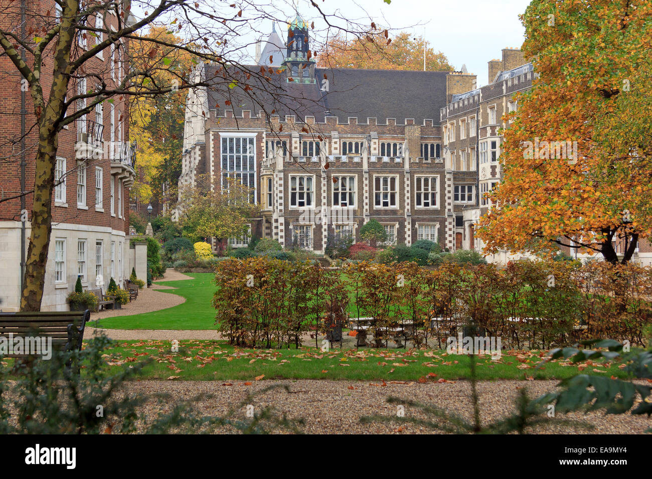 Middle Temple - part of 'The Temple' - home of two of the four Inns of Court of the English legal system. - Stock Image