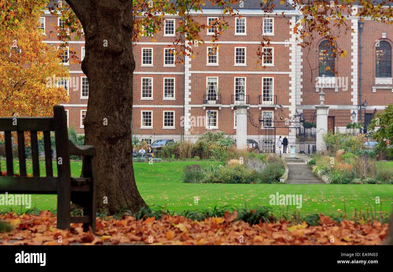 'The Temple' - home of two of the four Inns of Court of the English legal system. The Temple was originally - Stock Image