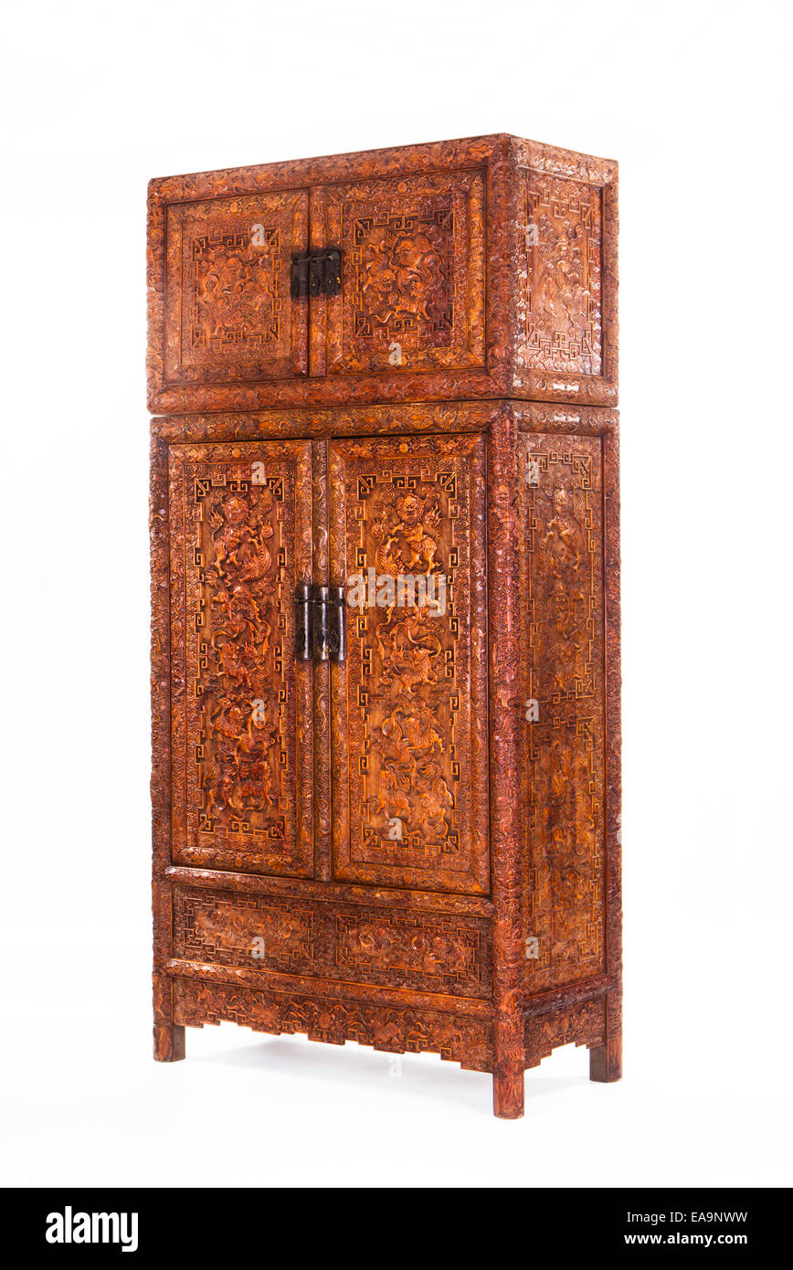 Antique Chinese cabinets - Stock Image - Antique Chinese Cabinets Stock Photos & Antique Chinese Cabinets