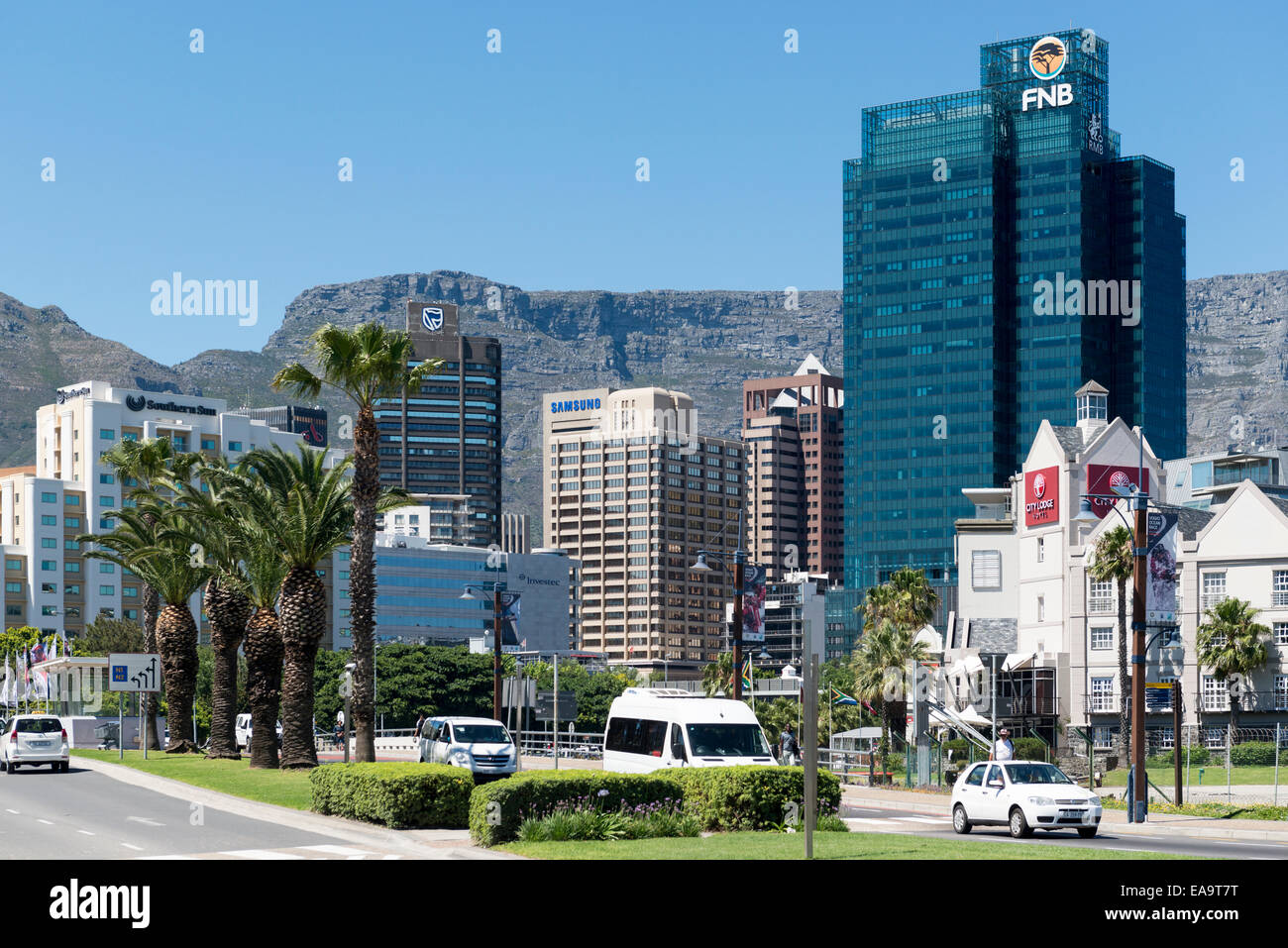 Portside, a 139 m skyscraper in the central business district in Cape Town, South Africa Stock Photo