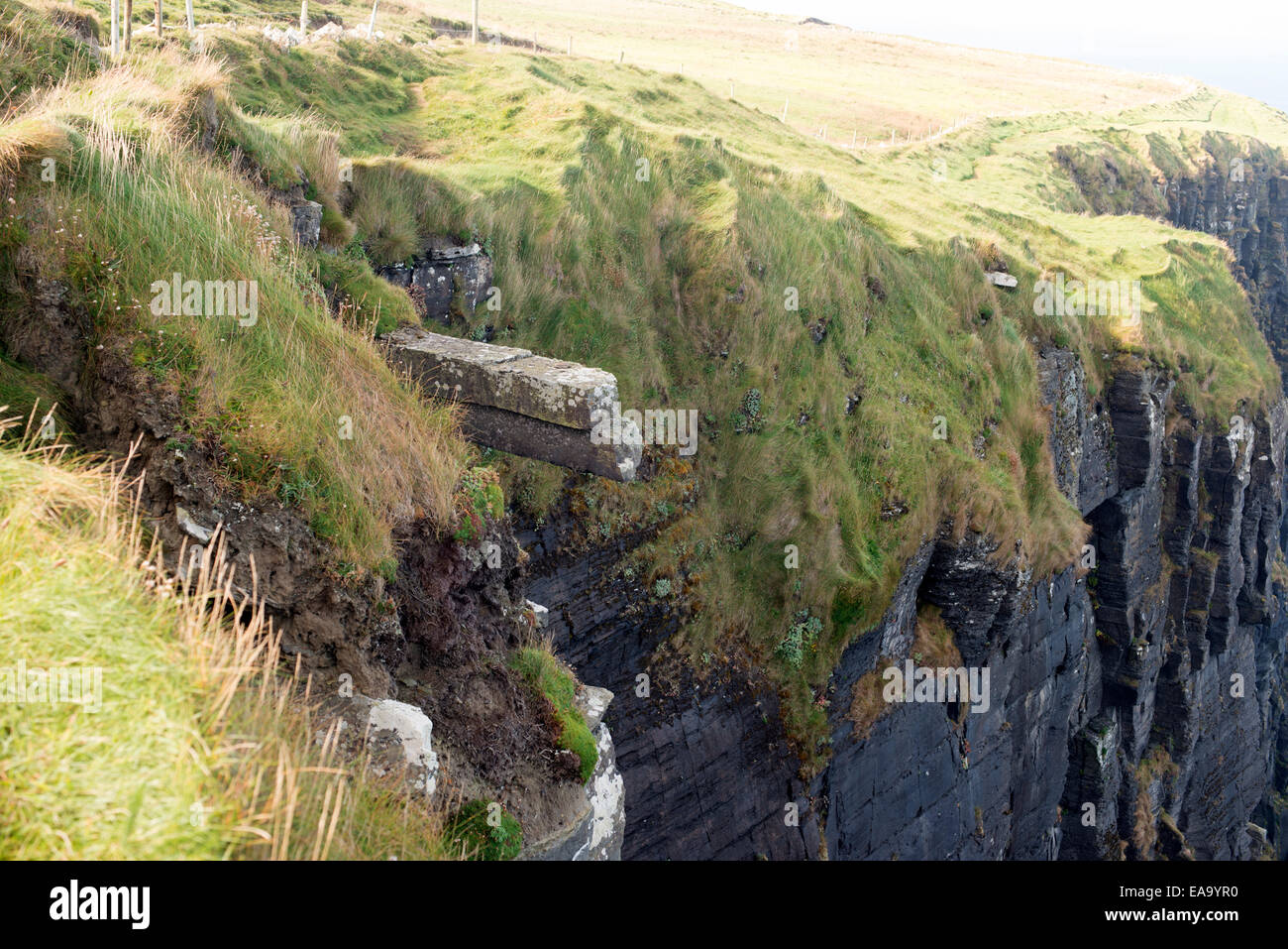 particular of the cliffs edge - Stock Image