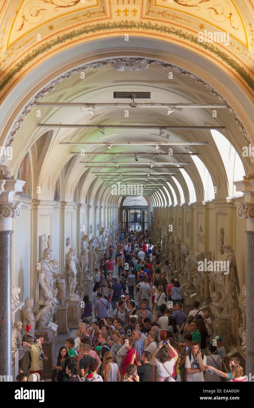 Crowds Inside Vatican Museum (UNESCO World Heritage Site