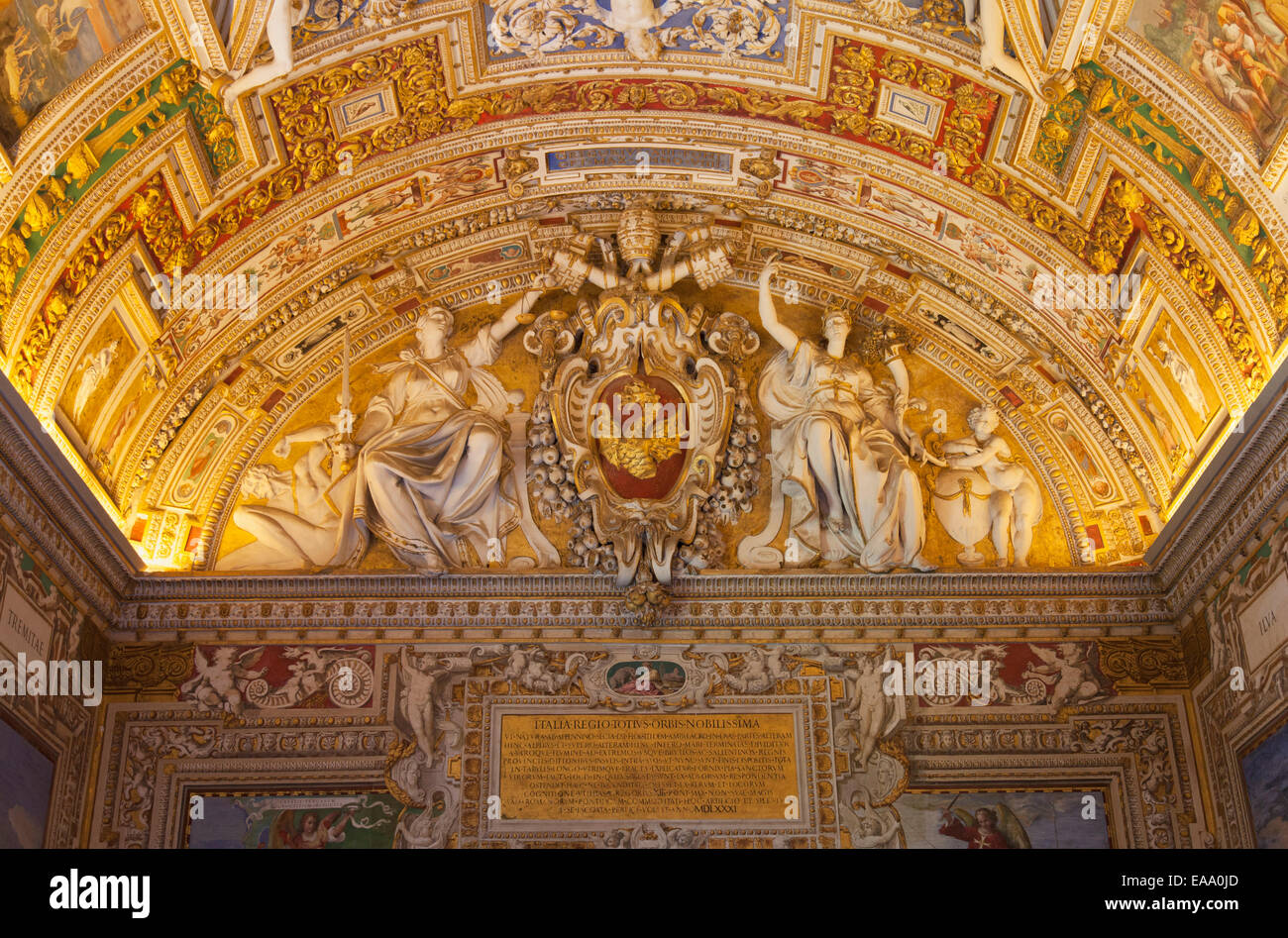 Ceiling of gallery of maps inside vatican museum unesco world stock ceiling of gallery of maps inside vatican museum unesco world heritage site vatican city rome italy gumiabroncs Gallery