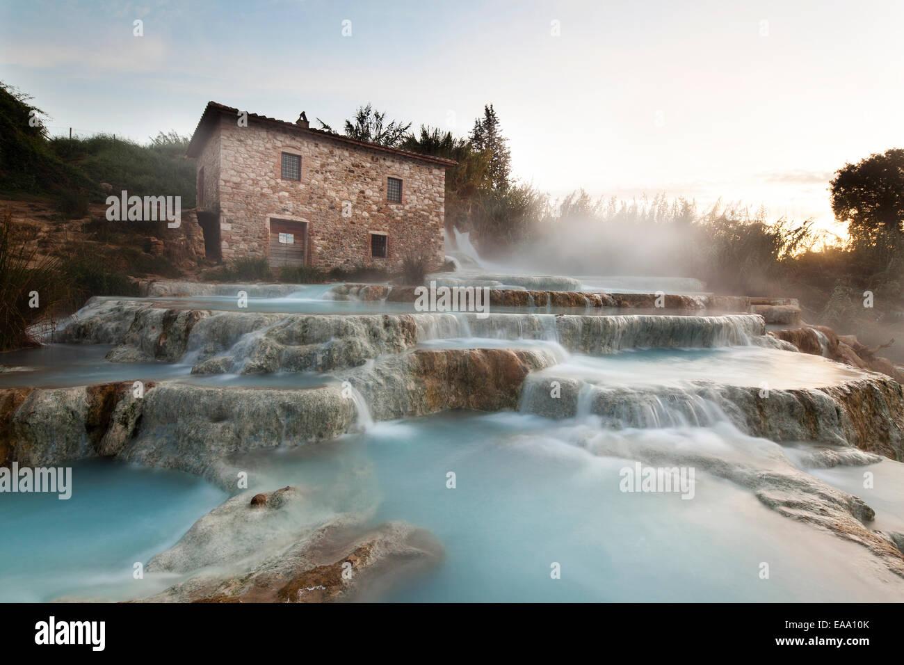 Cascate del Mulino in Saturnia, Tuscany Stock Photo