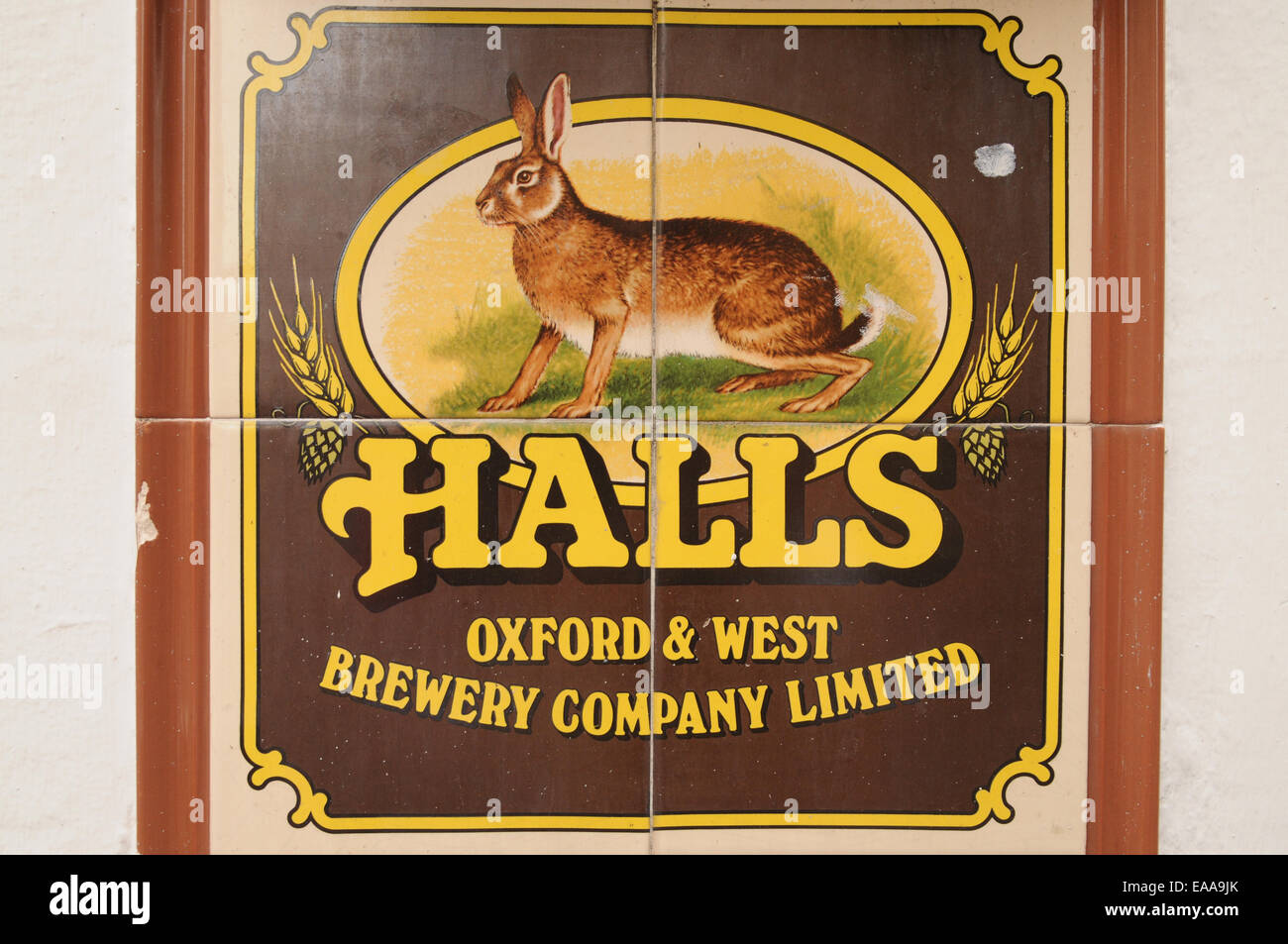 Halls Brewery Sign - Stock Image