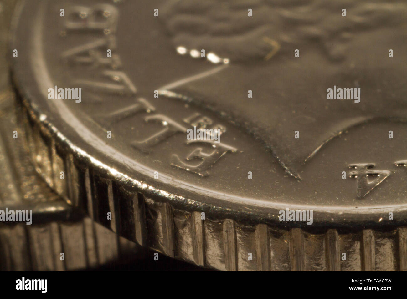 Close up photograph of English Money - Stock Image