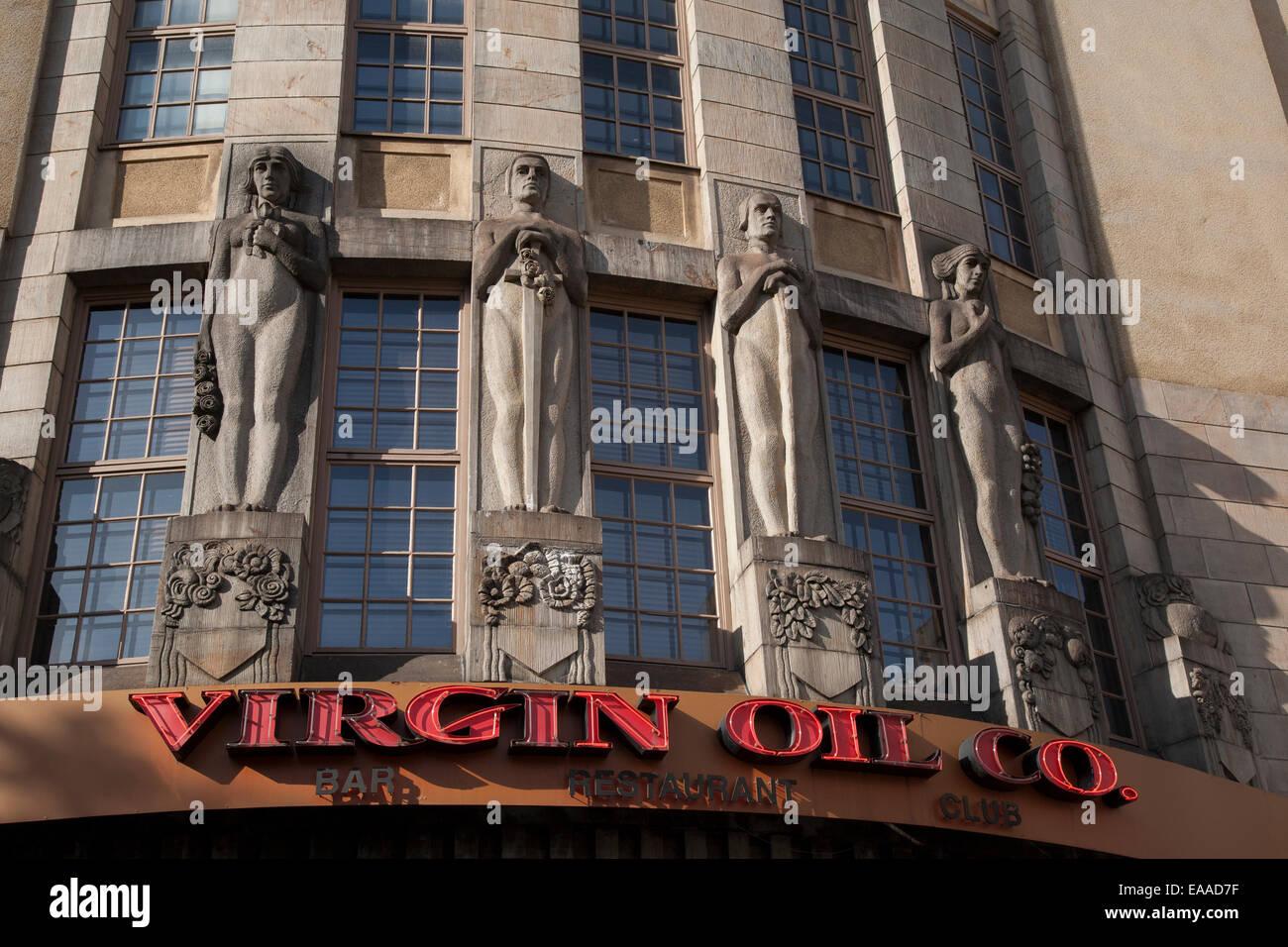Art deco design of virgin oil company bar restaurant and club