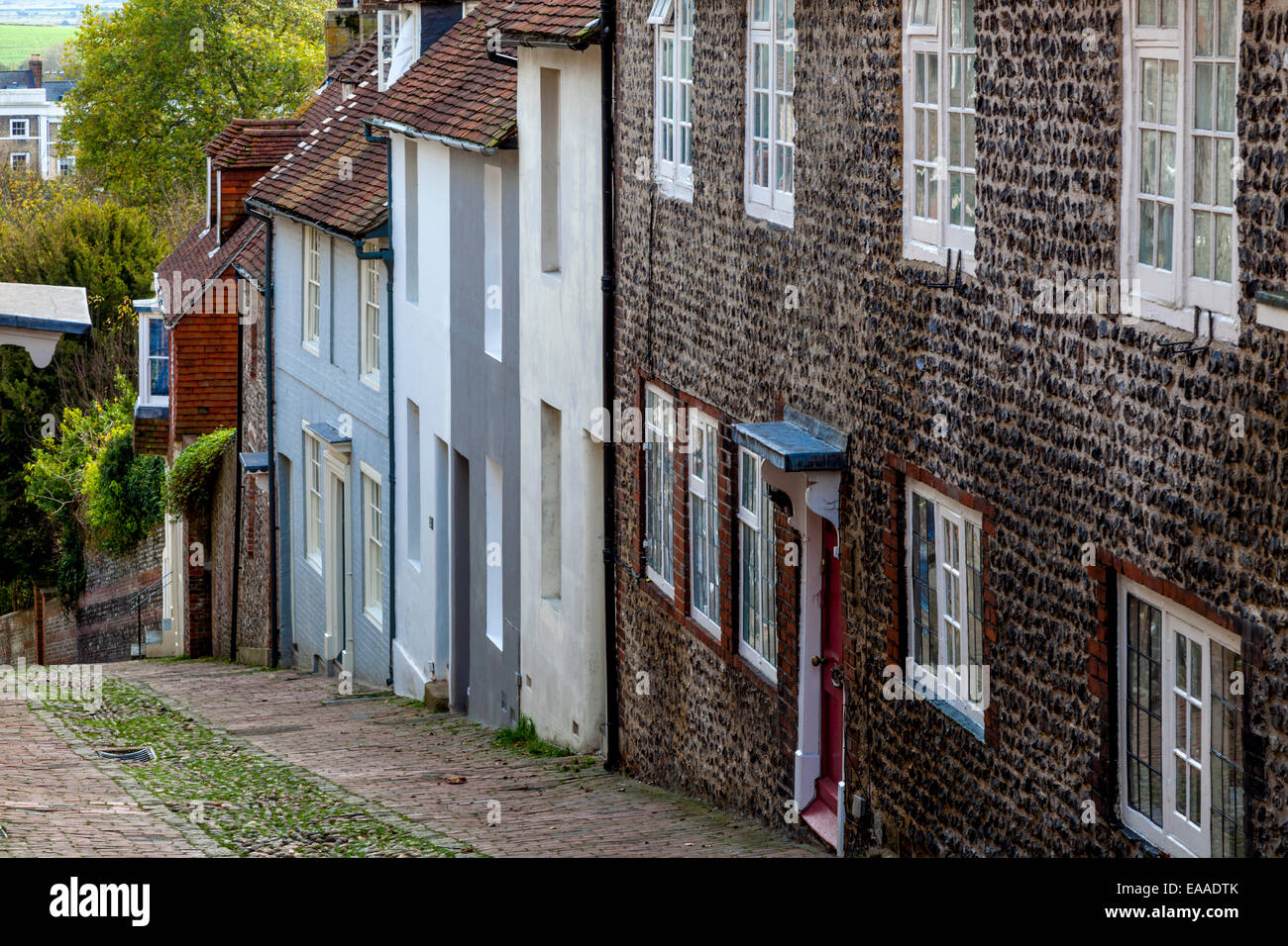 Keere Street, Lewes, Sussex, England Stock Photo