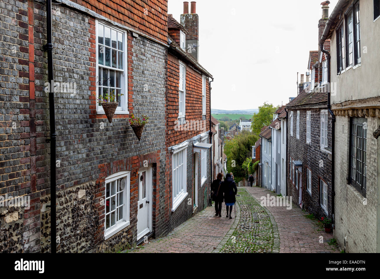 Keere Street, Lewes, Sussex, England Stock Photo