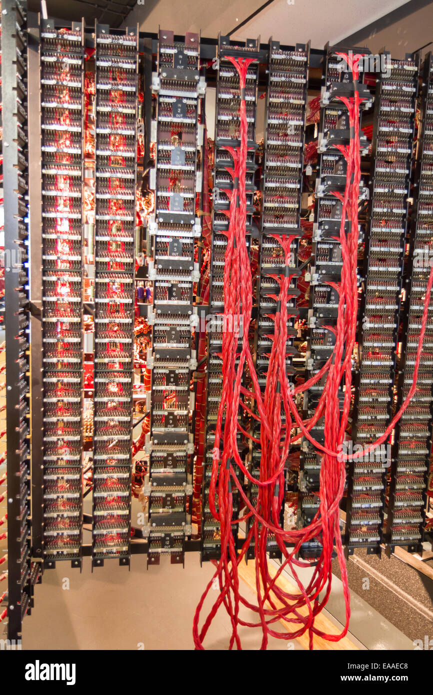 Rebuild Of Turing Bombe At Bletchley Park Used To Help Decipher Wiring Messages Wwii German Enigma Machine Encrypted Secret