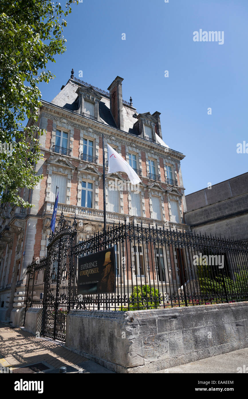 Exterior of the Courvoisier building at Jarnac Stock Photo