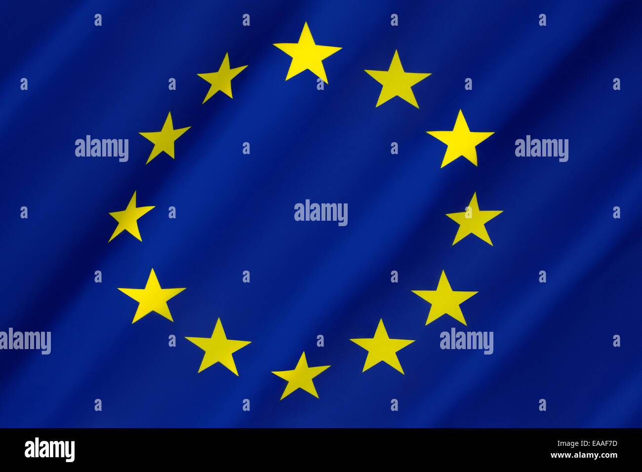 Flag of Europe - European Union - Stock Image