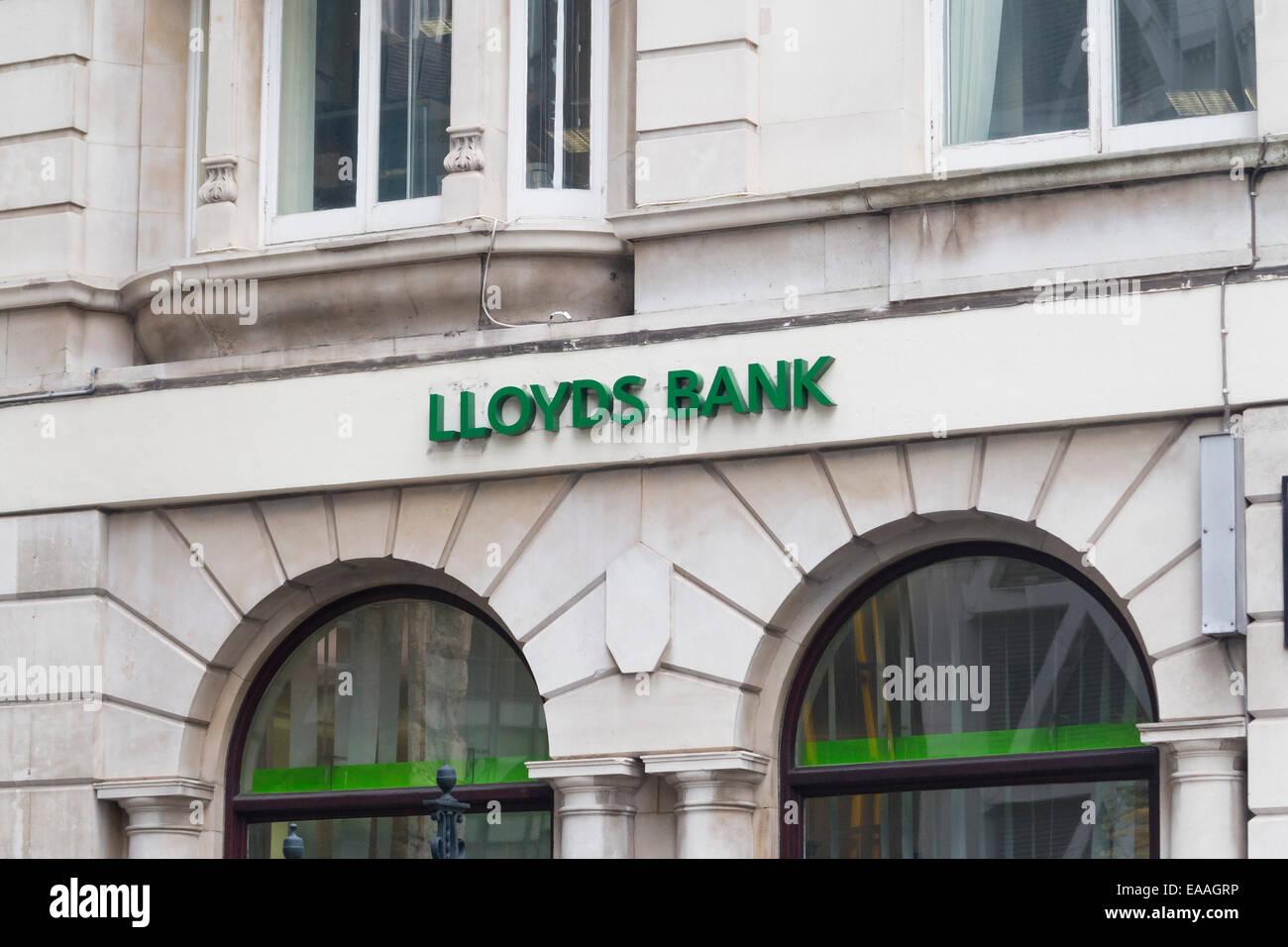 Lloyds bank sign, UK - Stock Image